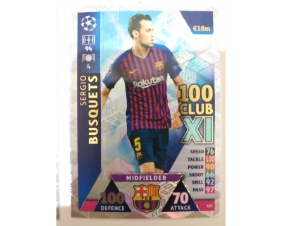 Macht Attax Champions League 2019 BUSQUETS Nº 435 100 CLUB