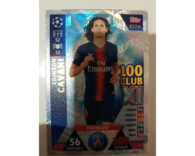 Macht Attax Champions League 2019 CAVANI Nº 437 100 CLUB