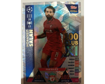 Macht Attax Champions League 2019 SALAH Nº 438 100 CLUB