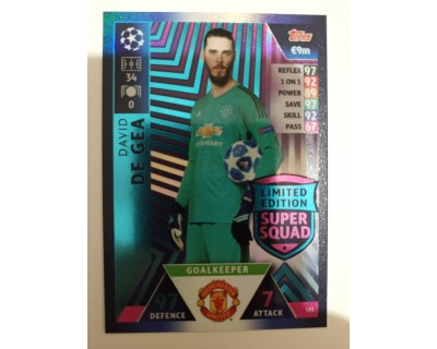Macht Attax Champions League 2019 DE GEA Nº 1 LIMITED