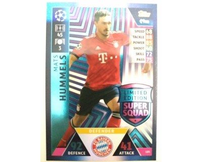Macht Attax Champions League 2019 HUMMELS Nº 4 LIMITED