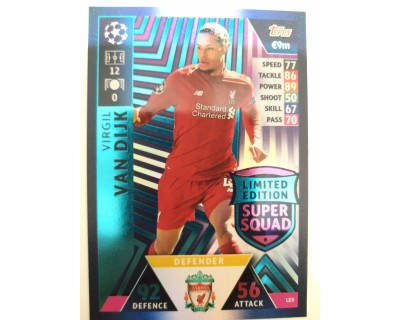 Macht Attax Champions League 2019 VAN DIJK Nº 5 LIMITED