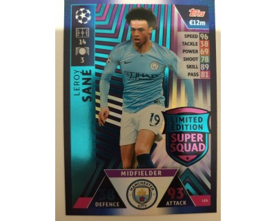 Macht Attax Champions League 2019 SANE Nº 6 LIMITED