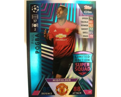 Macht Attax Champions League 2019 POGBA Nº 9 LIMITED