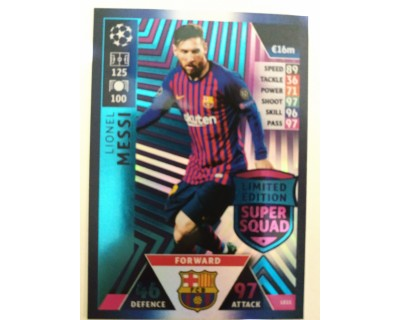 Macht Attax Champions League 2019 MESSI Nº 11 LIMITED