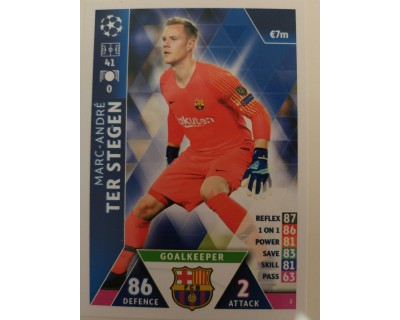 Macht Attax Champions League 2019 TER STEGEN Nº 2