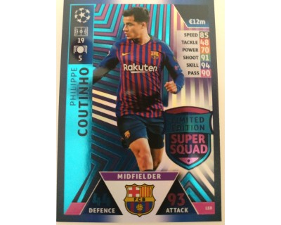Macht Attax Champions League 2019 COUTINHO Nº 8 LIMITED