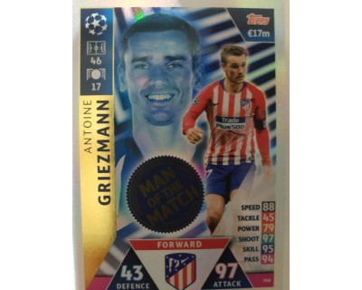 Macht Attax Champions League 2019 GRIEZMANN Nº 398 MAN OF THE MACHT