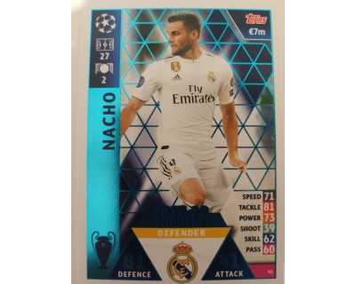 Macht Attax Champions League 2019 NACHO Nº 41