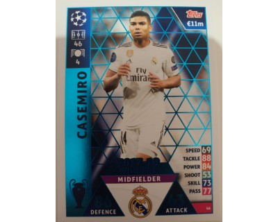 Macht Attax Champions League 2019 CASEMIRO Nº 46