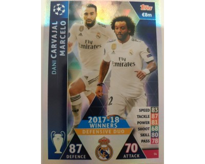Macht Attax Champions League 2019 DEFENSIVE DUO Nº 54