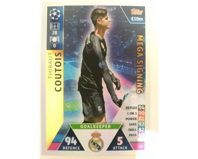 Macht Attax Champions League 2019 COURTOIS Nº 422 MEGA SIGNING