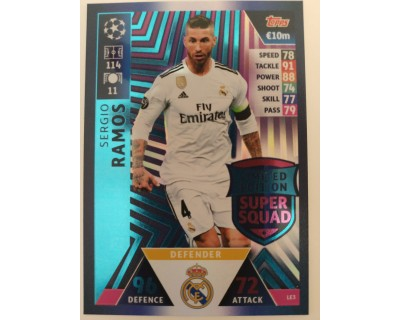 Macht Attax Champions League 2019 SERGIO RAMOS Nº 3 LIMITED