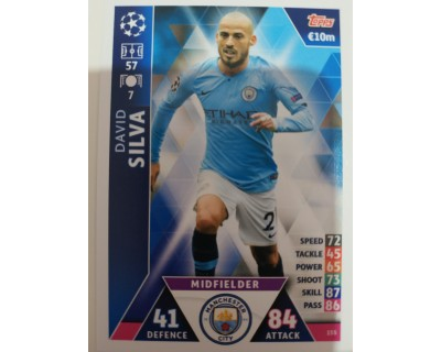 Macht Attax Champions League 2019 DAVID SILVA Nº 155
