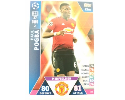 Macht Attax Champions League 2019 POGBA Nº 173