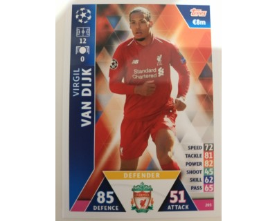 Macht Attax Champions League 2019 VAN DIJK Nº 203