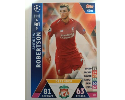 Macht Attax Champions League 2019 ROBERTSON Nº 205