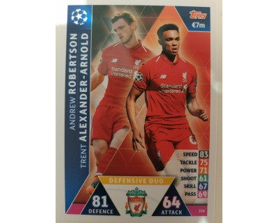 Macht Attax Champions League 2019 DEFENDER DUO Nº 216
