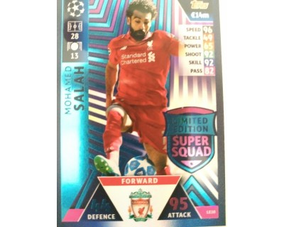 Macht Attax Champions League 2019 SALAH Nº 10 LIMITED