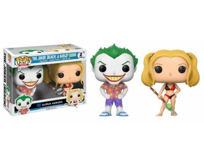 Funko POP! DC Comics The Joker (Beach) & Harley Quinn EXCLUSIVE