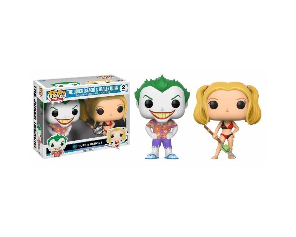 Funko POP! DC Comics The Joker (Beach) & Harley Quinn EXCLUSIVE