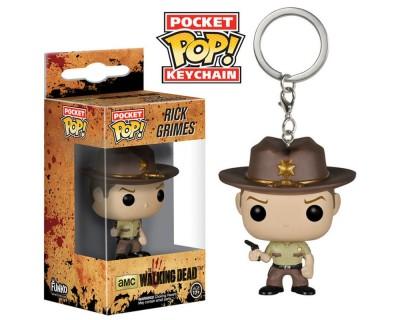 Llavero Pocket POP The Walking Dead - Rick Grimes