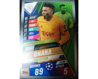 Match Attax 101 2019/2020 ONANA Shutout Superstar 1