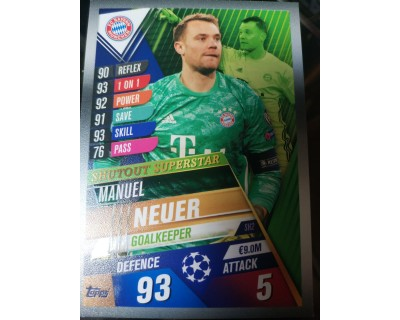 Match Attax 101 2019/2020 NEUER Shutout Superstar 2