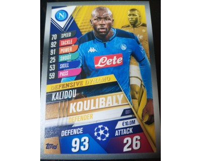 Match Attax 101 2019/2020 KOULIBALY Defensive Dynamo 1