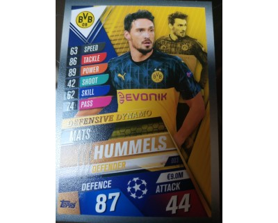 Match Attax 101 2019/2020 HUMMELS Defensive Dynamo 3