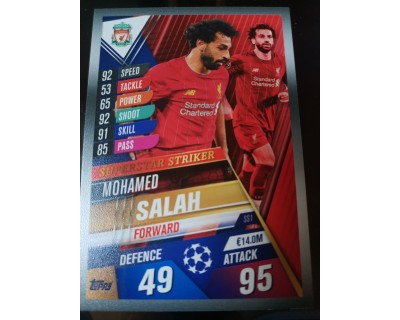 Match Attax 101 2019/2020 SALAH SUPERSTAR STRIKER 1