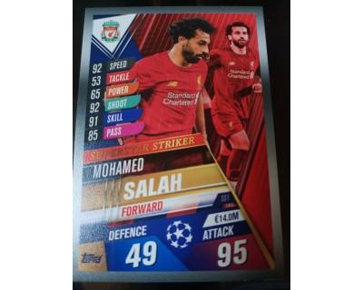 Match Attax 101 2019/2020 SALAH SUPERSTAR STRIKER 1
