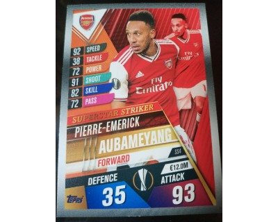 Match Attax 101 2019/2020 AUBAMEYANG SUPERSTAR STRIKER 4