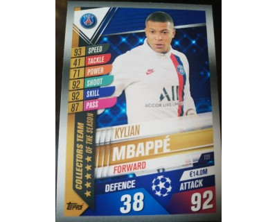 Match Attax 101 2019/2020 MBAPPE COLLECTORS TEAM 9