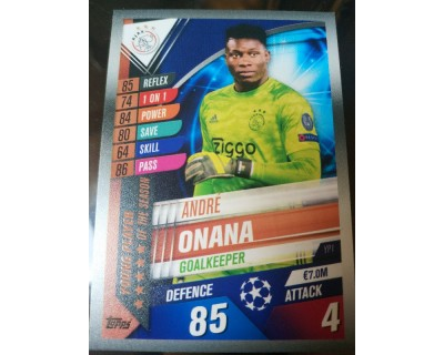 Match Attax 101 2019/2020 ONANA YOUNG PLAYER 1