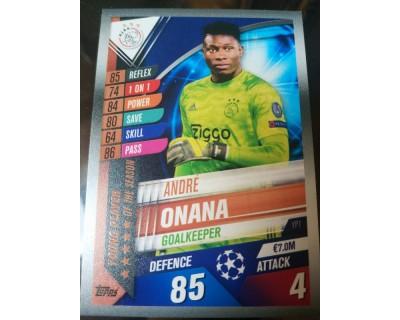 Match Attax 101 2019/2020 ONANA YOUNG PLAYER 1