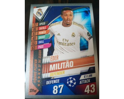 Match Attax 101 2019/2020 MILITAO YOUNG PLAYER 2