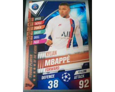 Match Attax 101 2019/2020 MBAPPE YOUNG PLAYER 4