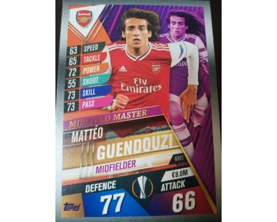 Match Attax 101 2019/2020 GUENDOUZI MIDFIELD MASTER 5