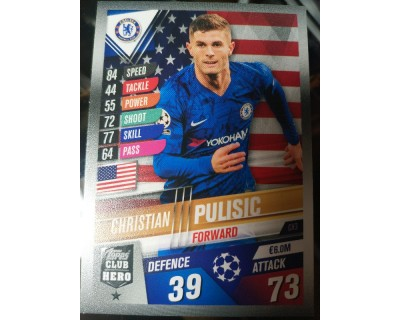 Match Attax 101 2019/2020 PULISIC CLUB HERO 3