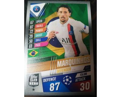 Match Attax 101 2019/2020 MARQUINHOS CLUB HERO 12