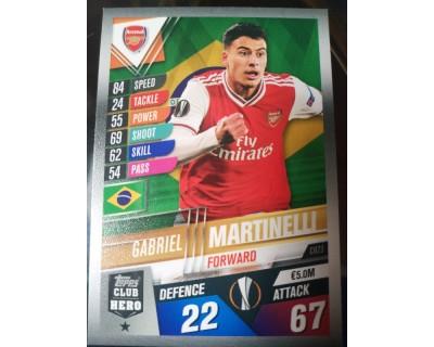 Match Attax 101 2019/2020 MARTINELLI CLUB HERO 23