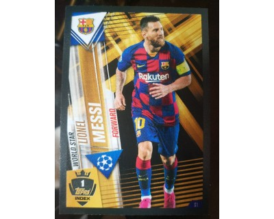 Match Attax 101 2019/2020 MESSI WORLD STAR 1
