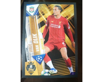 Match Attax 101 2019/2020 VAN DIJK WORLD STAR 2