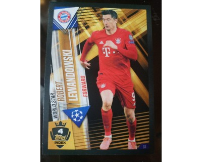 Match Attax 101 2019/2020 LEANDOWSKI WORLD STAR 4
