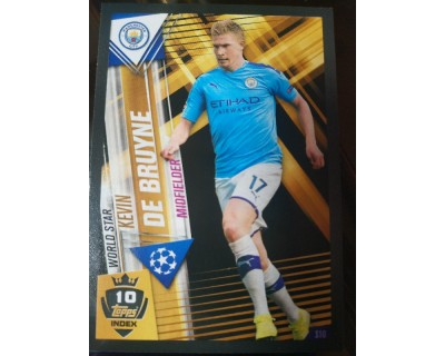 Match Attax 101 2019/2020 DE BRUYNE WORLD STAR 10
