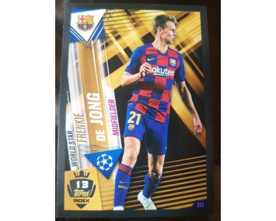 Match Attax 101 2019/2020 DE JONG WORLD STAR 13