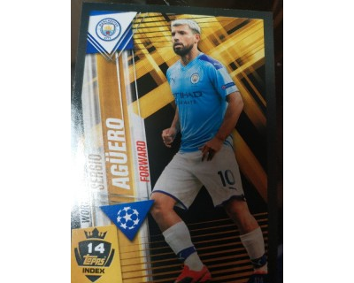 Match Attax 101 2019/2020 AGÜERO WORLD STAR 14