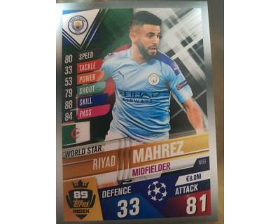 Match Attax 101 2019/2020 MAHREZ WORLD STAR 89