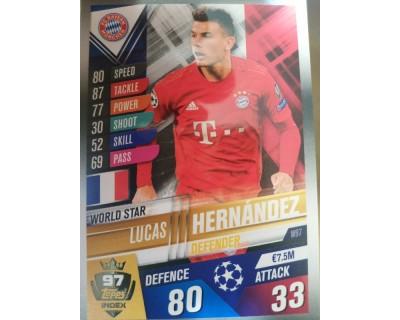Match Attax 101 2019/2020 LUCAS HERNANDEZ WORLD STAR 97